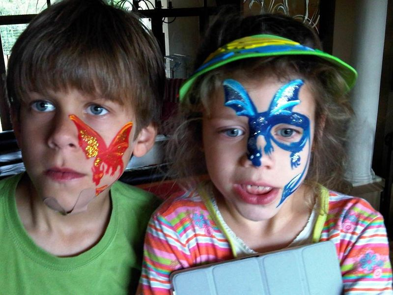 Adam and kate face paint